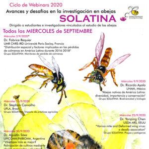 solatina webinars 2020 abejas investigación